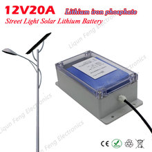 Lithium Iron Phosphate Lithium Solar Cell A battery 12V20A Garden Light Street Lamp Case Super Waterproof Long Life Easy Install