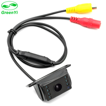 GreenYi Easy Installation Wide Viewing Angle 7 IR Night Waterproof Reversing Backup Reverse Vision Car Rear View Camera(China)