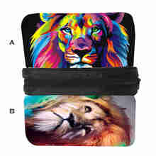 Custom Made Anime Pringting Pencilbag  Lion Tiger Horse Cat Space Galaxy Animal Movie Casual Case Women Men Kid Pencil Box
