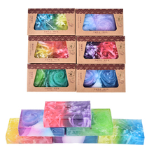 New Arrival Rainbow color essential oil bath soap skin whitening fruit anti aging moisturizing Soap Fruit soap Wholesale