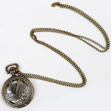 Cindiry Vintage Jewelry Antique Bronze Eagle Wings Shiying Huai Table Pocket Watch Necklace Pendant Gift For Men And Women P20