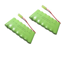 2pack 8.4V 2400mah ni-mh battery pack AA rechargeable battery remote control electric toy car model(China)