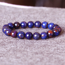 AAA South Africa High Quality Natural Genuine Purple Blue Sugilite Stretch Finish Bracelet Round Big beads 10mm 05021