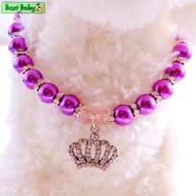 Puppy Pet Necklace For Dogs Rhinestone Crown Heart Chihuahua Poodle Cat Puppies Breed Small Animals Jewelry Grooming Accessories(China)