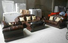 Classic sofa with italian leather sofa set included coffe table