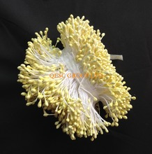 NEW pale yellow 5.5cm Double sided flower stamens for fascinator sinamay hat kentucky derby hat weding accessory.