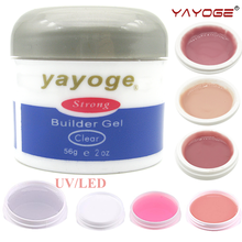 YAYOGE Nail Builder Gel polish varnish led uv lacquer Pink Clear White manicure Bonder Top coat 7 colors advanced Long Hard gel(China)