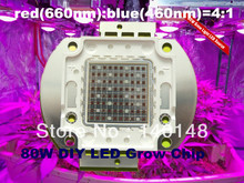 Free shipping 80W DIY grow kit cob red and blue grow led plant grow light chip 660nm 460nm Epileds chip , big yield !!!