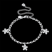 Fashion Ankle Bracelet Charm Jewelry 925 Sterling Silver Anklets For Women Silver Chain Silver Real Silver Anklet Foot Jewelry