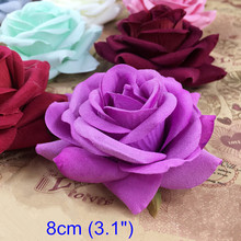 "Handmade Decorative Flowers 8cm (3.1"") Fabric Rose Flowers For Garland & Bouquet Making,Wedding Party Festival Decoration Flower"