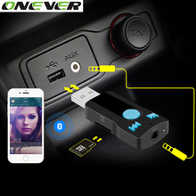Onever Bluetooth USB Receiver Stereo Music Receiver Adapter Supports Handfree Calling SD Card Reader Aux 3.5mm Speaker MIC
