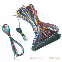 Jamma Harness 28 pin with 5,6 buttons wires for arcade game machine/cabinet accessories  6 action button wires FREE SHIPPING