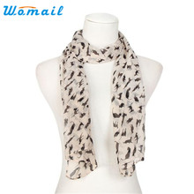 Womail Coolbeener Women Chiffon Wrap Lady Shawl Chiffon Scarf Scarves Dec6