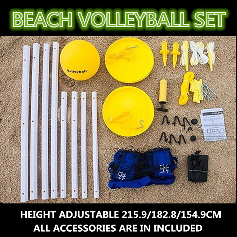 Beach volleyball set sports volleyball outdoor game set volleyball net stand outdoor(China (Mainland))