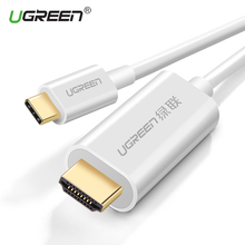 Ugreen USB C HDMI Cable Type C to HDMI Converter Male 4K for MacBook Samsung Galaxy S8/S8+ Huawei Mate 10 Pro USB-C HDMI Adapter(China)