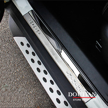For Nissan Rogue X-trail t32 Door Sill Scuff Plate Stainless Steel Welcome Pedal Car Styling Accessories 2017 2014 2015 2016(China)