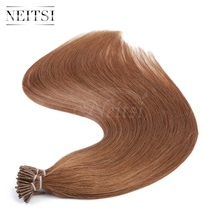 "Neitsi 20"" 30# 1g/s 50g 100g I Tip Stick Tip Keratin Prebonded Human Hair Extensions Indian Virgin Remy Hairpieces Straight"