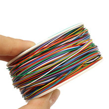 P/N B-30-1000 200M 30 AWG 8-Wire Colored Insulation Test Wrapping Copper Cable Promotion(China)