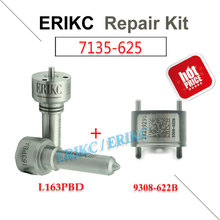 ERIKC 7135-625 ( L163PBD + 9308-622B ) Common rail injector EJBR03301D delphi repair kits nozzle L163PRD and valve 28239295(China)