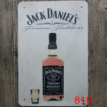 Jack Daniel's Old Time Whiskey home decor shabby chic home decor metal crafts for bar coffee 20*30 wall decor(China)