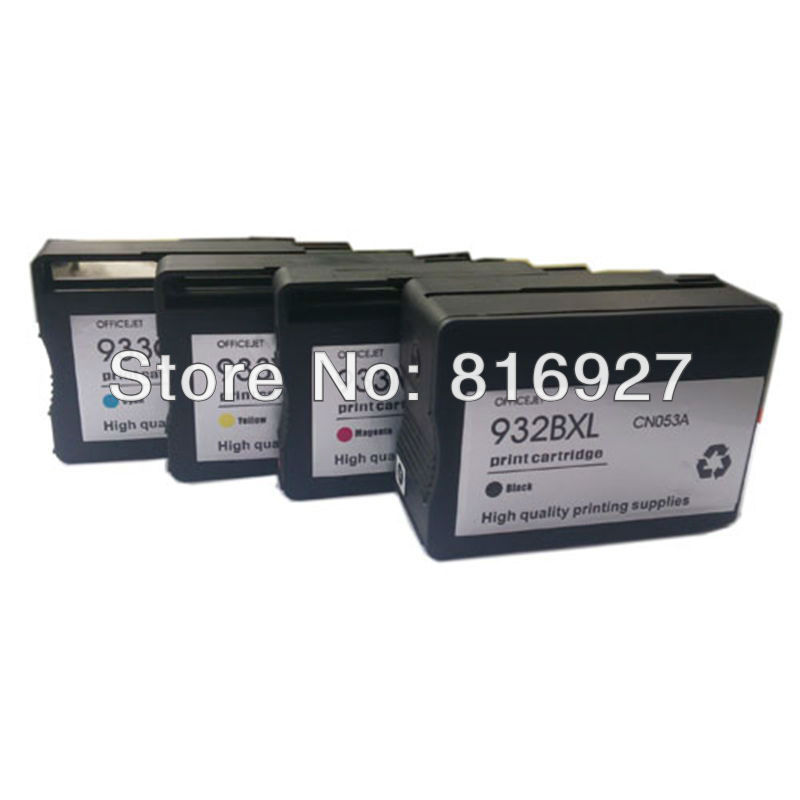 High capacity 8X 2 sets premium hp932 hp933 ink cartridge compatible ink w/chip for hp officejet 6100 6600 6700 printer<br><br>Aliexpress