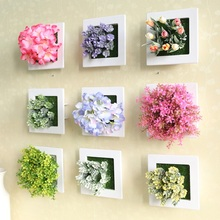Wedding Decoration 3D artificial flowers stereo artificial plants Wall decorative painting silk flowers Decor Frame Fake plants(China)