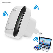 Techhunter WR03 Wifi Repeater 802.11n/b/g Network 300Mbps WiFi Routers Range Expander Signal Booster Extender Ap Wps Encryption