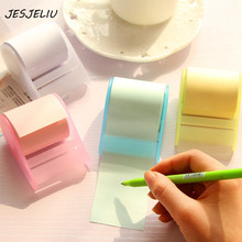 1 PC Tape Dispenser Formula Fluorescent Paper Sticker Memo Pad Sticky Notes Post It Kawaii Korea Stationery Can Tear Memo Pad(China)
