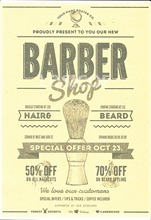 """HAIRE BEARD"" Retro Kraft Paper Hairdressing Tools Poster Wall Sticker Painting Creative Tattoo Studio Barber Shop Decoration(China)"