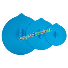 "Multi-function Cooking Tools Steam Ship Silicone Steamer Lid Pot Hot Cover Kitchen Blue 6""~11"" Three Sizes"