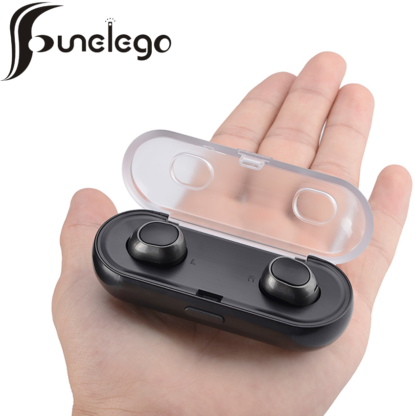 Funelego TWS-16 Mini Hidden Bluetooth Dual Stereo Wireless In Ear Earphones With Charging Power Storage Box For Smartphones<br>