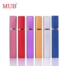 Hot Selling!! Fashion 12ml 1 Piece Aluminum Perfume Bottle With Mini Atomizer Spray Bottles Portable Parfum Container(China)