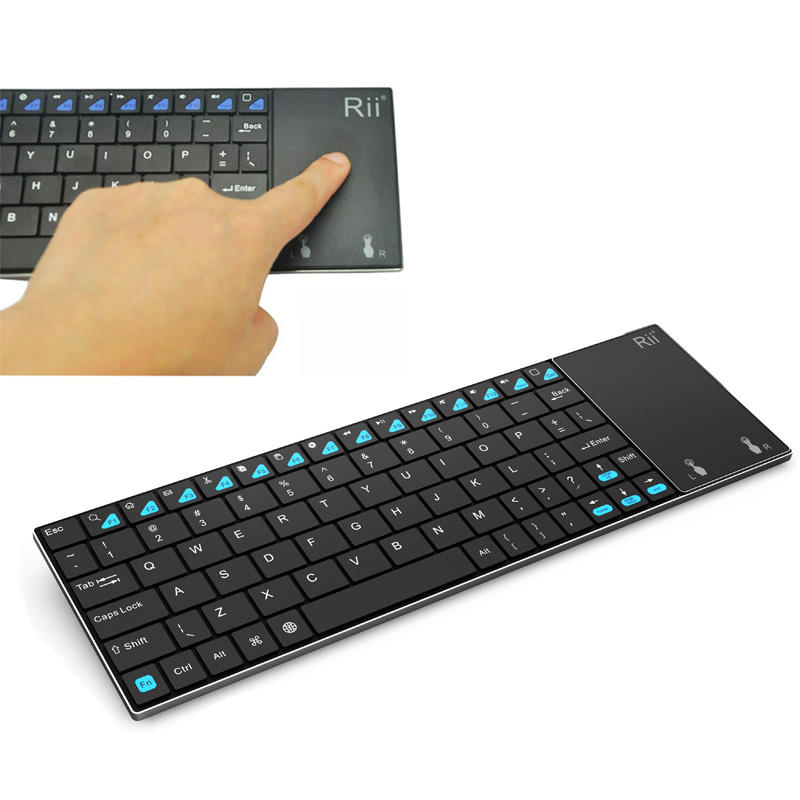 Ultra Slim Wireless 2.4G Keyboard QWERTY Touchpad Multifunction for PC Sony PS3 HTPC Android TV BOX(China (Mainland))
