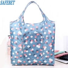 SAFEBET Brand  Folding Portable Shopping Bags Buy Vegetables Bag High Capacity Shopping Bags Food Travel Organizer Bags