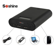 Soshine E3S Portable Power Bank & 18650 Battery Charger with Dual USB LCD Display for 18650 Lithium Li ion Rechargeable Battery(China)