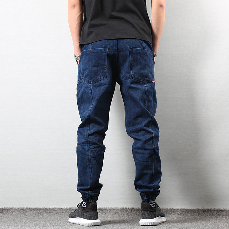 2019 Japanese Style Fashion Men S Jogger Jeans Black Blue Color ... b63aca49e
