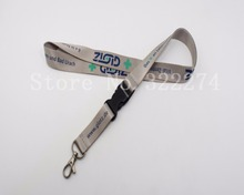 "Hot Sale Outlet Custom Breakaway Safety Released Neck Lanyard Logo Text Imprint Flat Polyester Heat Transfer 3/4""Neck Strap"
