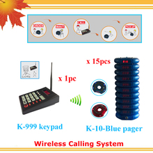 Queue pager management system for restaurant KFC coffee shop with 15pcs vibrating receivers free DHL shipping(China)