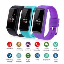 INCHOR WRISTFIT HR Smart Bracelet OLED Bluetooth 4.0 Heart Rate Monitor Smart Wristband Fitness Tracker For Andriod IOS Phone(China)