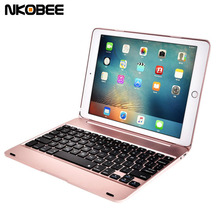 NKOBEE For iPad Air 2 Case Bluetooth Keyboard Wireless Protective ABS Case Cover For iPad Air 2 For iPad Pro 9.7 Tablet Cover