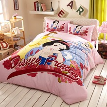 600TC Snow white duvet cover queen size Disney cartoon bed cover set 3/4/5pcs twin king pink home decor kids adult girls gif
