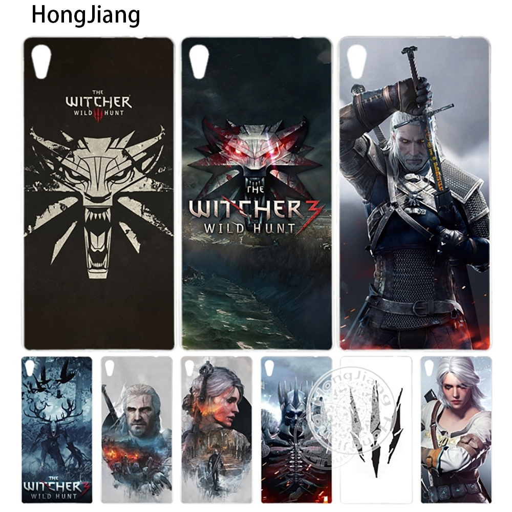 HongJiang Witcher Wild Hunt Cover phone Case sony xperia z2 z3 z4 z5 mini plus aqua M4 M5 E4 E5 C4 C5 XA