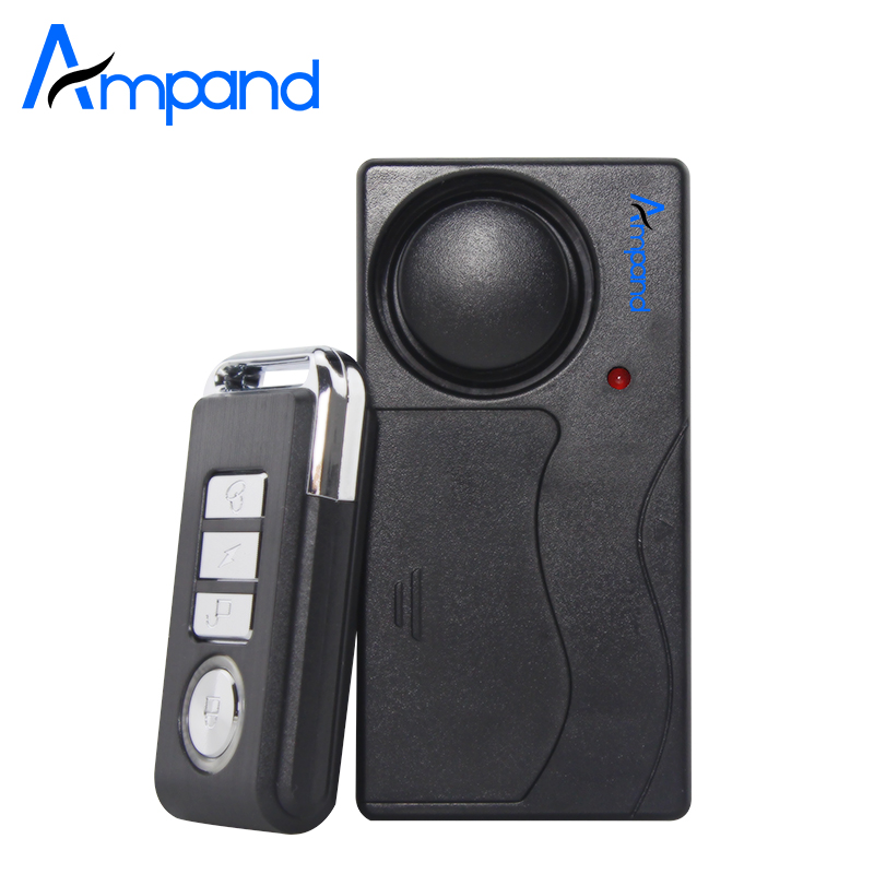 Home Security Wireless Remote Control Vibration Motorcycle Bike Door Window Detector Burglar Alarm(China)