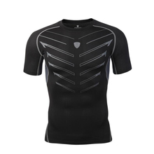 2017 New Men's Compression Tights Soccer Jerseys Anti-UV jogges Fitness tees Short Sleeve Moisture Wicking Quick-drying T-shirt
