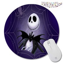 Nightmare before christmas New Arrivals 200*200*2mm Print Design Round Mouse Pad Antiskid Rubber Mat game Mouse Pad, Office Gift