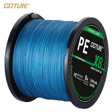 Goture 8 STRANDS PE Braided Fishing Line 500M Super Strong Japan Multifilament Fishing Line 16LB-80LB