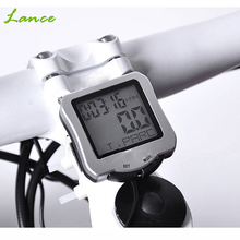 Night Glow Waterproof Bicycle Computer Odometer Mountain Bike Speedometer Clock Odometer Stopwatch Accesorios para bicicletas(China)