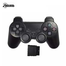 2.4G wireless game controller joystick for PS2 console playstation 2 video gaming play station for P2 Black