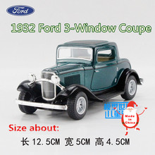 KINSMART Die-Cast Metal Models/1:34 Scale/1932 Ford 3-Window Coupe Classic car toys/for children's gifts or for collections(China)