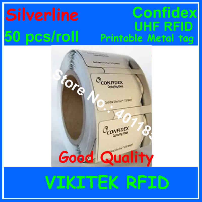 UHF RFID printable metal tag Confidex Silverline 915M EPC C1G2 ISO18000-6C versatile all surface rfid label 50 pcs per roll<br><br>Aliexpress